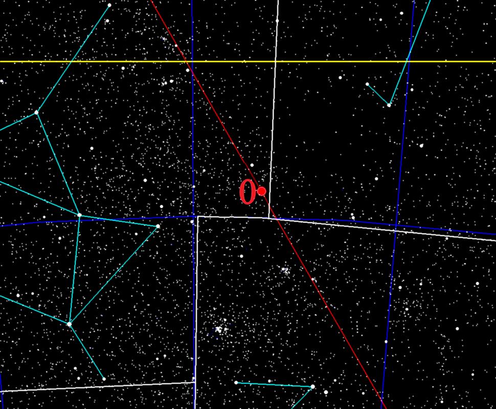 Galactic zero longitude