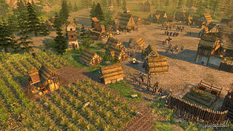 0 A.D. (video game) - Screenshot of the Gaul Civilisation with all of Pyrogenesis' graphical effects enabled