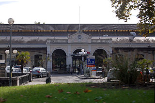 railway station in Pau, France