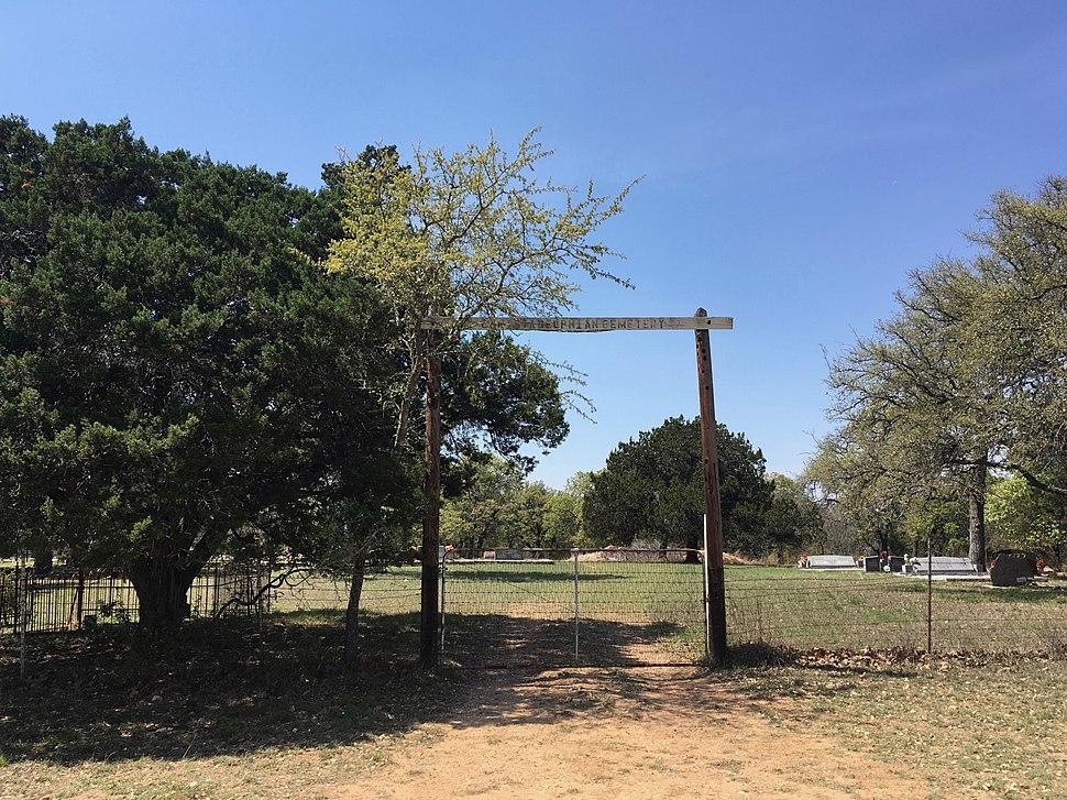 Gate of Christadephian Cemetery near Hye, Texas (2018)