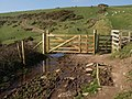 Gate on coast path above Swale Cove - geograph.org.uk - 702832.jpg