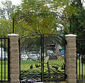 Gates to Maywood Riverfront Park.JPG