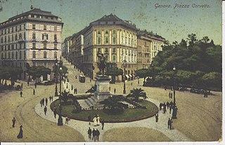 Genova. Piazza Corvetto