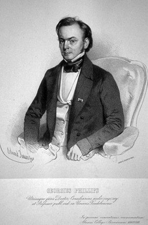 George Phillips (canon lawyer) - Georg Phillips, lithograph by Eduard Kaiser, 1853