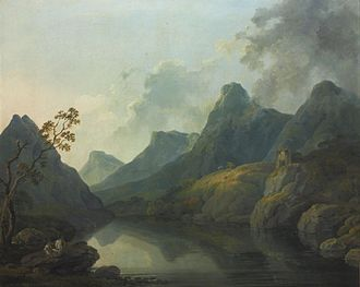 George Barret Sr. - George Barret, Sen. - A view of Llanberis, with Dolbarden Castle, Caernarvonshire, North Wales