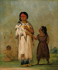 Assiniboin Woman and Child