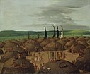 George Catlin - Bird's-eye View of the Mandan Village, 1800 Miles above St. Louis - 1985.66.502 - Smithsonian American Art Museum.jpg