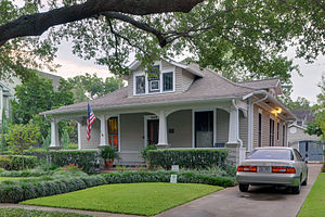Bungalow - A bungalow home in Houston, Texas