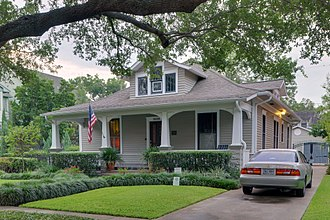 Bungalow - A bungalow house in Houston, Texas