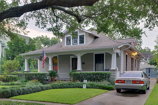 George L. Burlingame House, 1238 Harvard St, Houston (HDR)