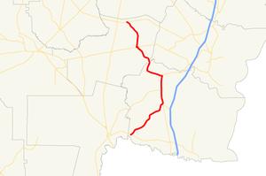 Georgia State Route 110 - Image: Georgia state route 110 map