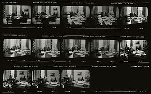 Executive Order 11905 - Contact sheet of Ford signing the order