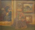 Gerhard Blom - Interiør med kvinde - 1910.png