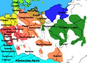Karte der germanischen Stämme um 50 n. Chr. (ohne Skandinavien)