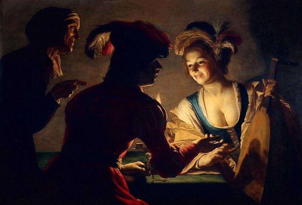 Gerrit van Honthorst - De koppelaarster