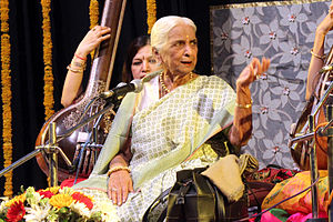 Girija Devi - Devi performing in Bharat Bhavan, Bhopal (July 2015)