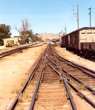 Rail gauge in Australia - Image: Gladstone Railyard March 1986 002