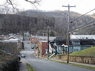 Glenville, West Virginia - Glenville as viewed from Court Street in 2006