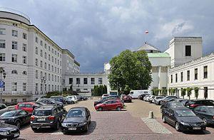 Sejm and Senate Complex of Poland - View from Piotr Maszyński Street