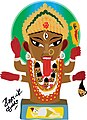 Goddess Kali aboriginal art style illustration by kartick Dutta .jpg
