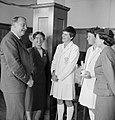 Governor General (Cobham) talking to visiting English women's cricket team.jpg