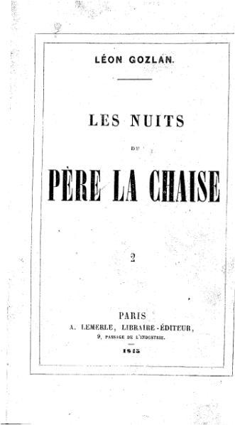File:Gozlan - Les Nuits du Père Lachaise, tome 2, A. Lemerle, 1845.djvu