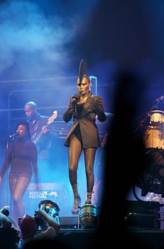 Grace Jones in una sua performance