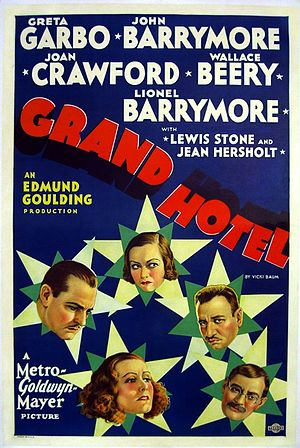 1932 in film - Film poster of Grand Hotel