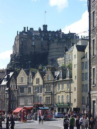 Grassmarket - The Grassmarket, with Edinburgh Castle towering above it