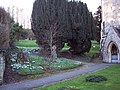 Gravestones and Snowdrops at St Peter and St Paul's Church, Longbridge Deverill - geograph.org.uk - 333751.jpg