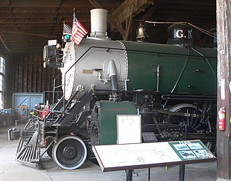 Great Northern 1355 - GN1355, displayed at Milwaukee Railroad Shop in Sioux City, Iowa