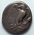 Greece, Elis for Olympic Festivals, 5th century BC - Stater- Eagle with Spread Wings on Olive Branch (obverse) - 1916.995.a - Cleveland Museum of Art.jpg