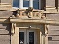 Greeley County Courthouse (Nebraska) W entrance detail.JPG