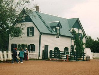 Green Gables (Prince Edward Island) - The Green Gables farm house viewed from the west.
