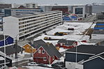 Greenland 13, Nuuk, town centre with Blok P.JPG