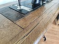 """Gritzner Sewing Machine """"R"""", wooden decoration in table.jpg"""