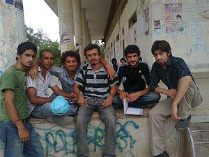 Tajiks in Pakistan - Group of Tajik Students in Karachi University.