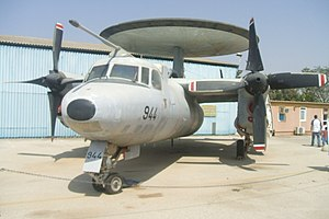 Operation Mole Cricket 19 - IAF Grumman E-2C Hawkeye in the Israeli Air Force Museum in Hatzerim Airbase.