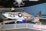 Grumman F9F-7 Cougar at the Cradle of Aviation Museum on 29 August 2017.png