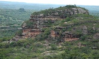 Caçapava do Sul - Landscape of Guaritas, about 50 km from the Brazilian city of South Caçapava