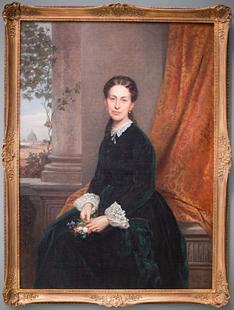 Guglielmo de Sanctis - Mrs. Cleveland (1868) Carnegie Museum of Art in Pittsburgh, Pennsylvania.