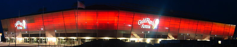 Facaden på Guldfågeln Arena