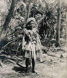1900, Woman on Funafuti, Tuvalu, then known as Ellice Islands