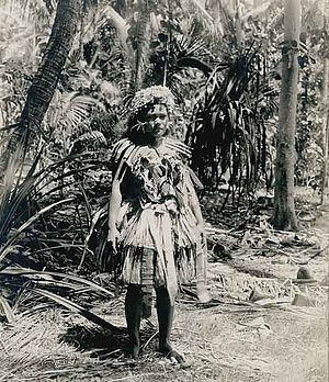 Tuvalu -  Woman on Funafuti (1900) photography by Harry Clifford Fassett