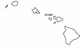 Salt Lake, Hawaii - Location of Salt Lake on O{{okina}}ahu