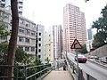 HK Mid-levels 薄扶林道 Pokfulam Road Bonham Road bridge flyover 景輝大廈 Kingsfield Tower January 2019 SSG.jpg