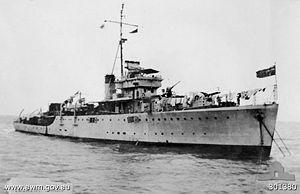 Grimsby-class sloop - HMAS Swan in 1945