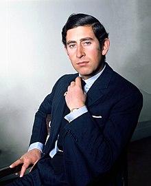 Il principe di Galles Carlo nel 1974