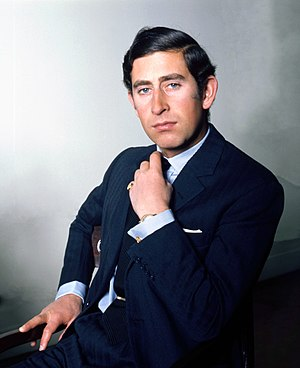 Charles, Prince of Wales - The Prince in Buckingham Palace in 1974, by Allan Warren