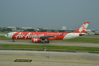 Don Mueang International Airport - A taxiing Thai AirAsia X Airbus A330-300.